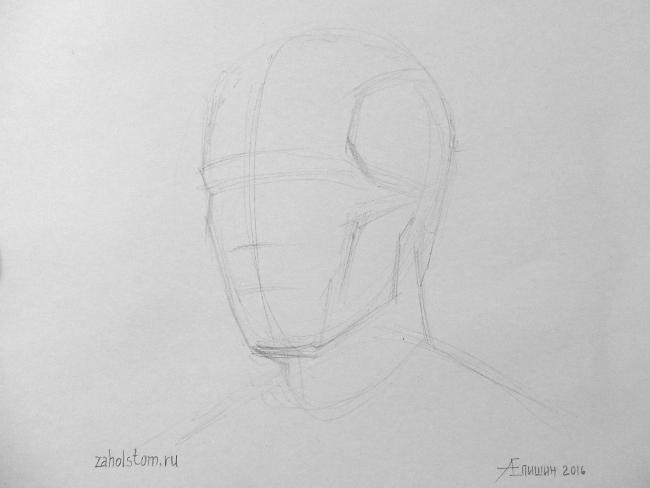020 Как рисовать портрет. Поэтапный рисунок головы