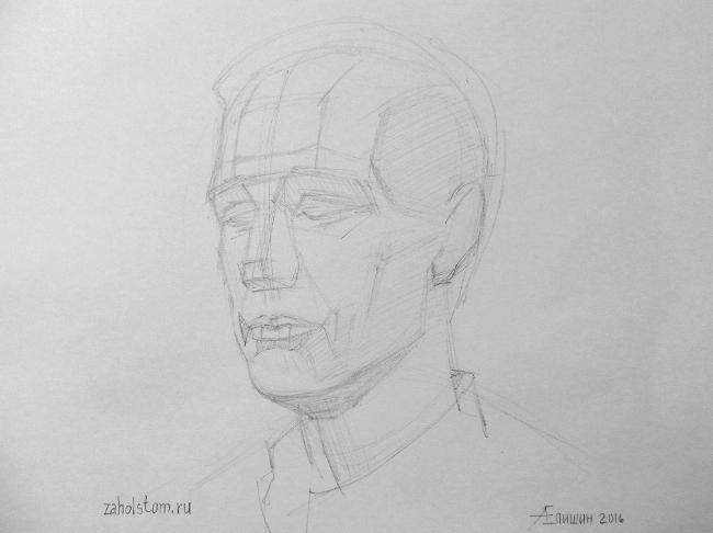 021 Как рисовать портрет. Поэтапный рисунок головы
