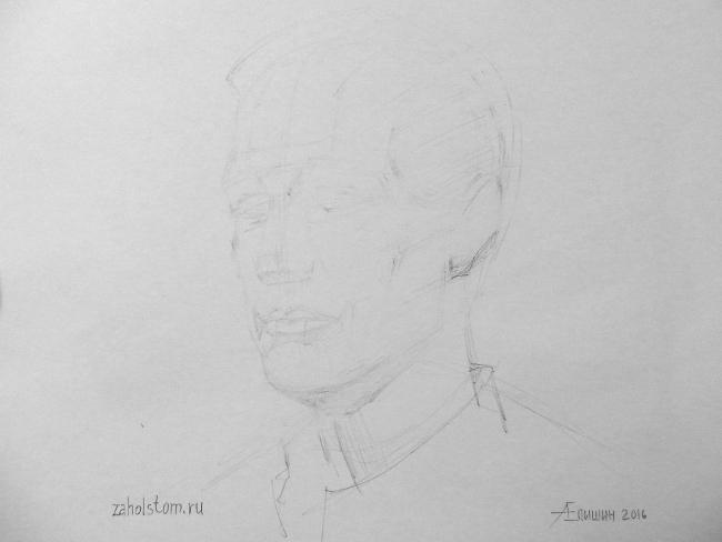 022 Как рисовать портрет. Поэтапный рисунок головы
