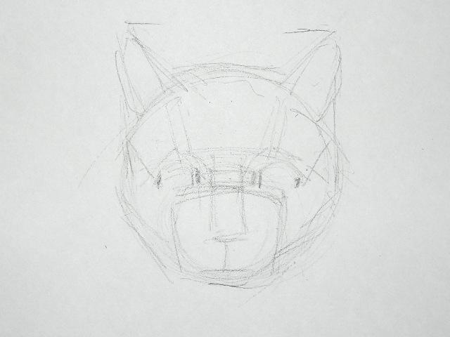 04 Как рисовать кошку