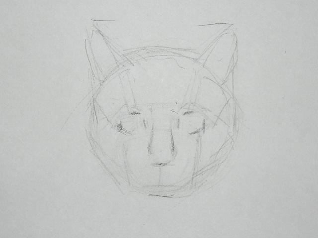 05 Как рисовать кошку