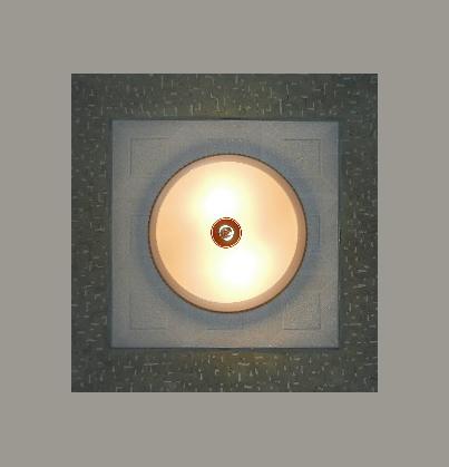 02 Оформление светильника в потолочном пространстве. Дизайнер Алексей Епишин.