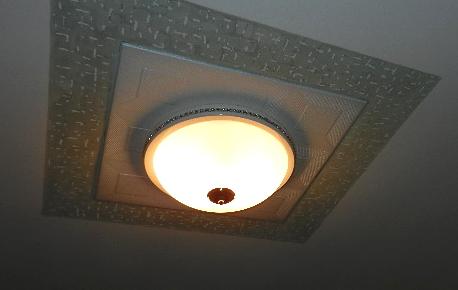 03 Оформление светильника в потолочном пространстве. Дизайнер Алексей Епишин.