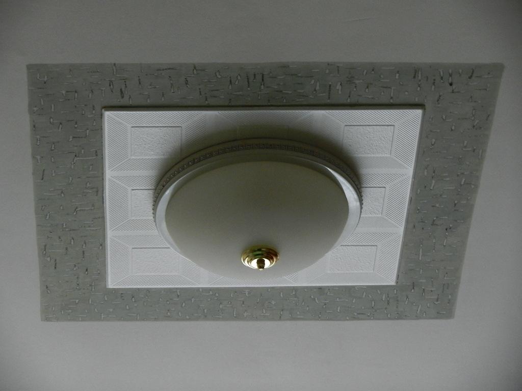 01 Оформление светильника в потолочном пространстве. Дизайнер Алексей Епишин.